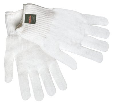 One Size White Multi-Purpose String Knit Gloves