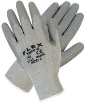 Large Gray dFlex Tuff-II Latex Coated Gloves