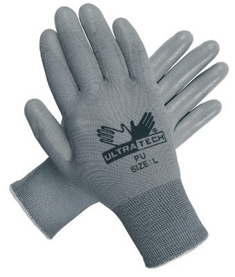 Large Grey Nylon UltraTech PU Coated Gloves