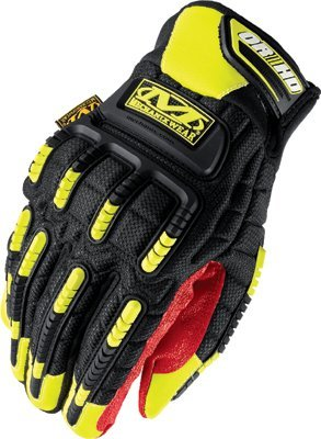 Large Black/Red/Yellow Spandex/Synthetic Leather ORHD Gloves
