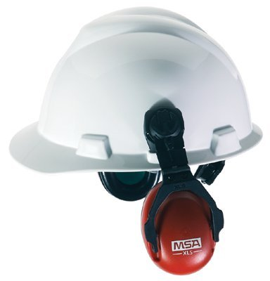 Red Sound Control Cap Earmuffs w/ Brackets