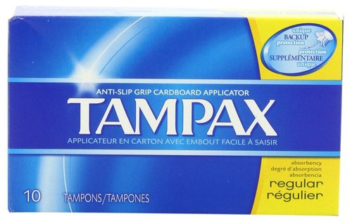 Tampax Regular Tampons 10 Count Box