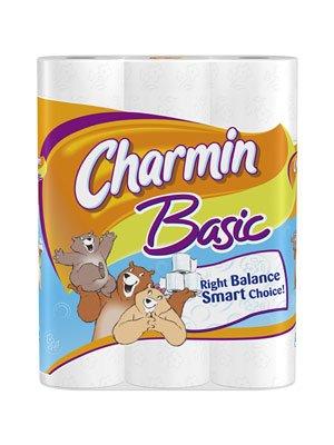 Charmin Basic Huge Rolls 48 Count