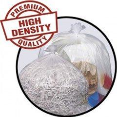 Pitt Plastics High-Density 14 Micron 40-45 Gallon Mini-Roll Liners Clear