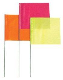 "2""X3"" 18"" Wire White Stake Marking Flag"