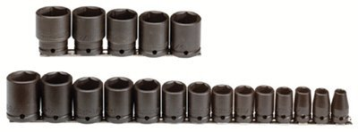 "1/2"" Drive 19 Piece Black Oxide Impact Socket Set"