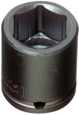 "1/2"" Drive 1-1/4"" 6 Point Black Oxide Impact Socket"