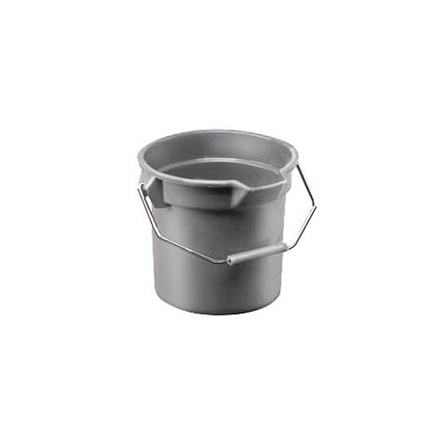 Brute Gray Plastic Round 14 Gal Bucket w/ Pouring Spout
