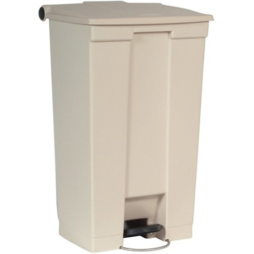 Beige Plastic Fire-Safe Step-On 23 Gal Receptacle