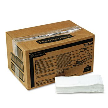 Rubbermaid 7817-88 WHI White 2-Ply Protective Liners for Sturdy Station 2