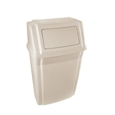 Slim Jim Beige Wall-Mount 15 Gal Container w/ Lid