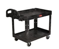 "24"" x 36"" Black Utility Cart w/ 500 lb Capacity"