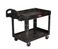 "24"" x 36"" Black Utility Cart w/ 500 lb Capacity"