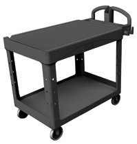 Heavy-Duty Flat Shelf Utility Carts