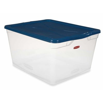 6.5 Quart Rubbermaid Non-Latching Box with Clear Lid