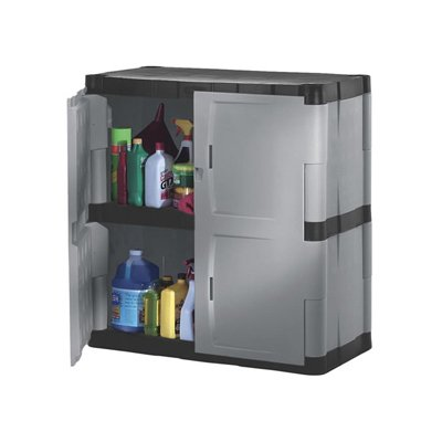 Rubbermaid Fg708500michr Heavy Duty Storage Cabinet W Two Shelves