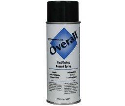 10 oz Glossy Black Overall Economical Fast Drying Enamel Aerosols