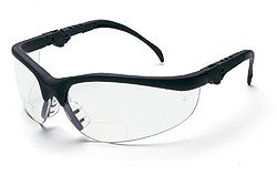 2.0 Diopter Safety Glasses with Black Frame and Clear Lens
