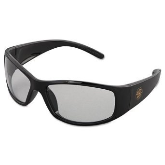 Elite Clear Safety Glasses with Black Frame and Anti-Fog Lens