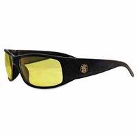 Black Elite Safety Glasses w/ Amber Lens