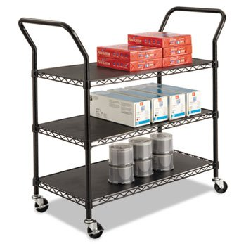 Three Shelved Wire Utility Cart