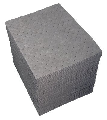 """15""""X19"""" Gray Dimpled Universal Sorbent Pads"""