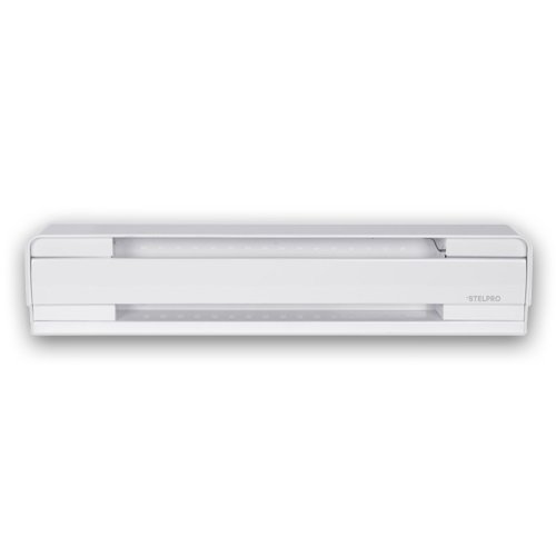 Stelpro 500w White Baseboard Electric Convection Heater 240v 27 86 Inches Stelpro B0502w Homelectrical Com