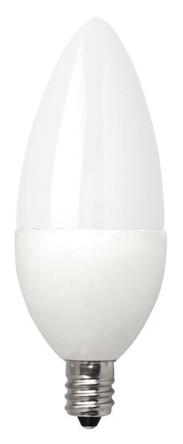 4W Dimmable LED Bulb, Candelabra Frosted Blunt Tip, 2700K