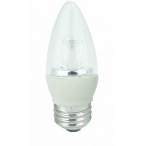 5W Dimmable LED Bulb, Blunt Tip, 2700K