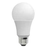 7W Dimmable Smooth A19 LED Bulb, 3000K