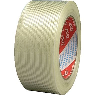 """60 yd x 2"""" Clear Tensilized Polypropylene Filament Strapping Tape"""
