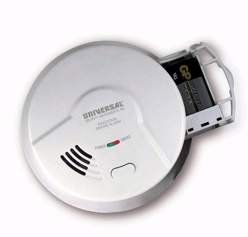 Lithium Battery Operated Ionization Smoke and Fire Alarm