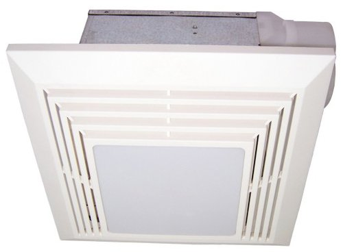 Bathroom Exhaust Fan w/ Custom-Designed Motor & Light, 125 Sq. Ft, 110 CFM
