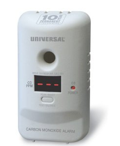 Smart Carbon Monoxide Alarm, Sealed Battery & LED Screen