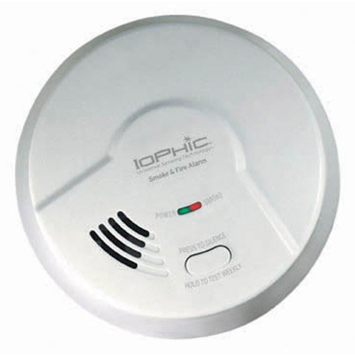 IoPhic Smoke & Fire Alarm, 9V Battery Operated