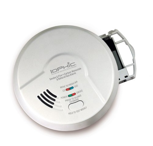 4-in-1 IoPhic Smart Smoke Detector, Fire, Carbon Monoxide & Natural Gas Alarm