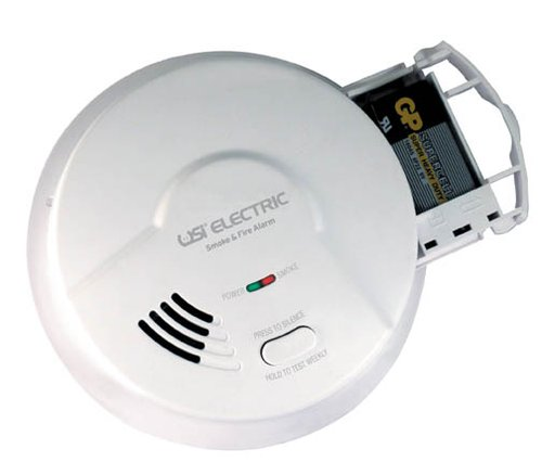120V Wired In Ionization Smoke and Fire Alarm with Backup Battery