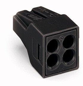 Black 4-Port Pushwire Connectors