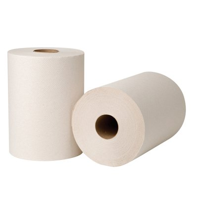 EcoSoft Green Seal Universal Roll Towels, Natural White