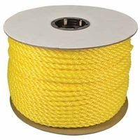 "1/4"" x 600' Yellow Twisted Monofilament Polypropylene Rope"