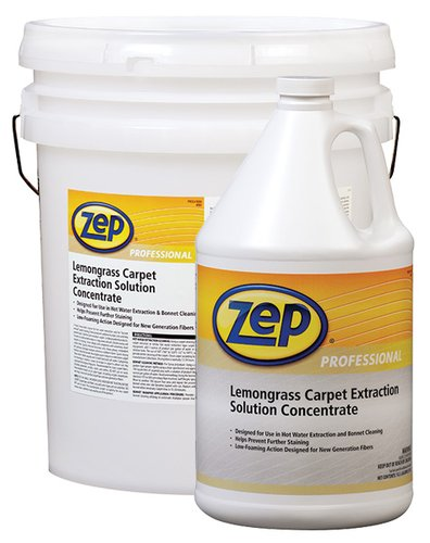 Zep Professional Lemongrass Carpet Extraction Solution Concentrate 1 Gallon