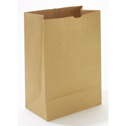 Standard-Duty 52# Brown Kraft Grocery Paper Bags, 12X7X17