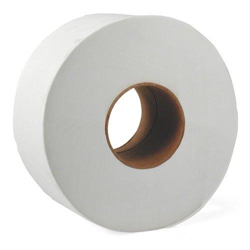 JRT White Jumbo 12 in. Wide 2-Ply Tissue Paper Roll 4000-ft.