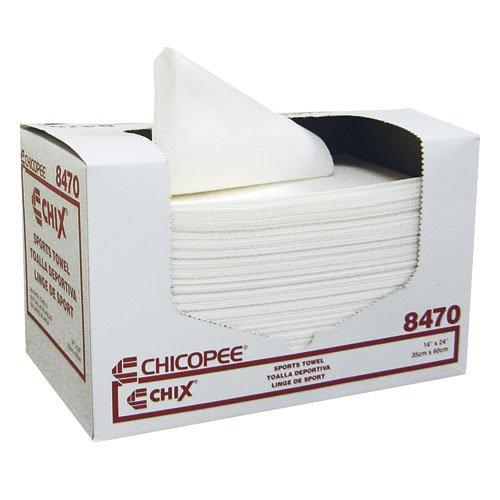 White Light-Duty Soft Absorbent Sports Towel 14X24