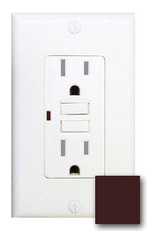 15 Amp Tamper Resistant GFCI w/ LED, Brown