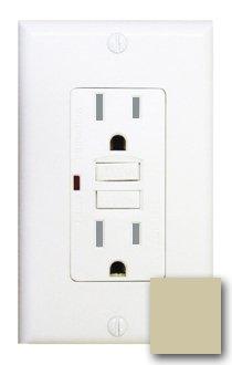 15 Amp Tamper Resistant GFCI w/ LED, Ivory