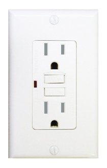 15 Amp Tamper Resistant GFCI w/ LED, White