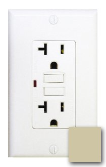 20 Amp GFCI Receptacle Outlet w/ LED, Ivory