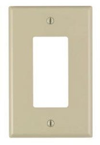 1-Gang Plastic Rocker Switch Wall Plate, Ivory
