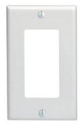 1-Gang Plastic Rocker Switch Wall Plate, Mid Size, White
